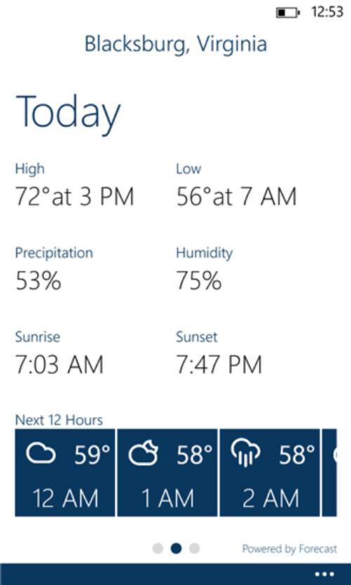 Blue Skies brings hyper-local weather to Windows Phone