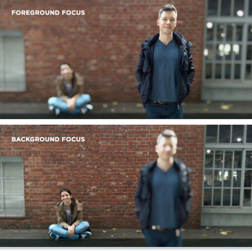 Change the focal point from background to foreground