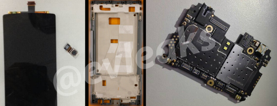The OnePlus One's modules shamelessly exposed. - OnePlus One display and components leak, Xiaomi preparing a tablet for April 23 announcement?