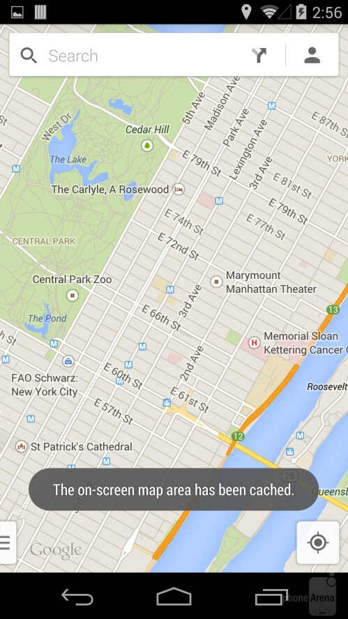 Save Google Maps for offline viewing