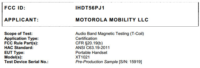 New, ultra-thin Motorola XT1021, XT1022 and XT1025 to be launched next month?