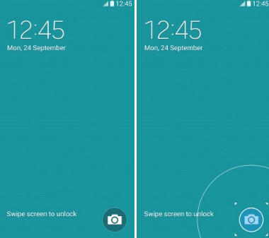 Use the shortcut to access your camera quickly from the lockscreen