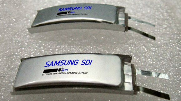 Samsung SDI's 210mAh curved battery for wearable devices - Samsung SDI reveals curved battery for wearables
