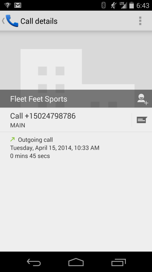 Current Android dialer