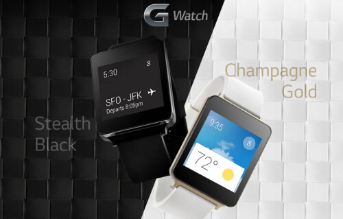 Website reveals champagne gold LG G Watch and more