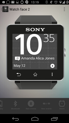 Using Sony's Smart Connect app, you can customize your Sony SmartWatch2