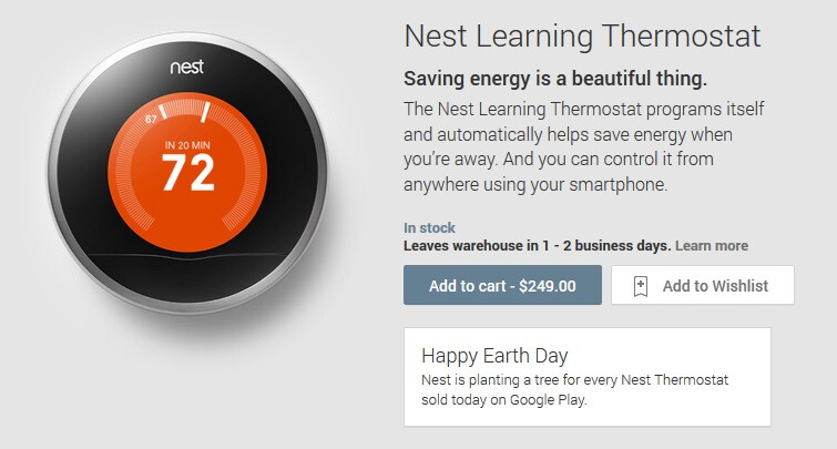 Nest now available in Google Play, $249