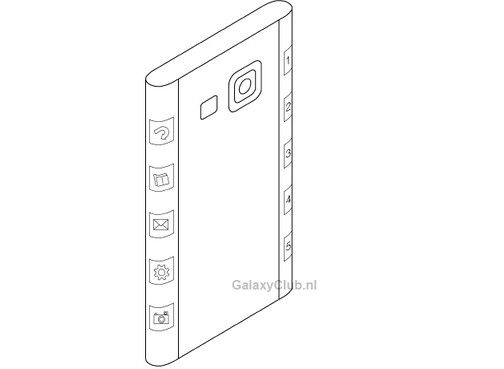 Could this image from a Samsung patent application be the Samsung Galaxy Note 4?
