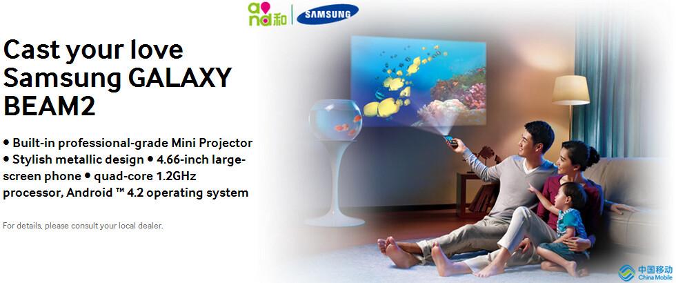 Samsung Galaxy Beam 2 G3858 Projector Phone Sim Free