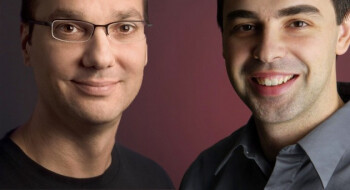Android co-founder Andy Rubin (on the left) and Google's Larry Page