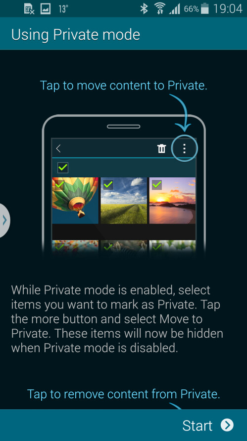 Samsung explains how Private mode works