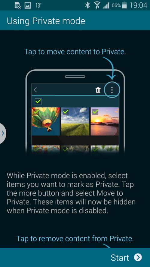 Samsung explains how Private mode works