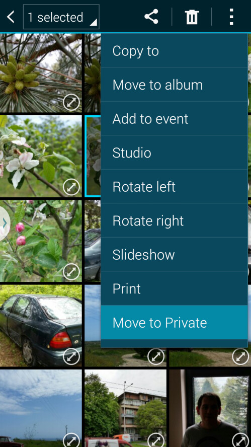 Your Gallery with Private mode enabled (after you've hidden your images)