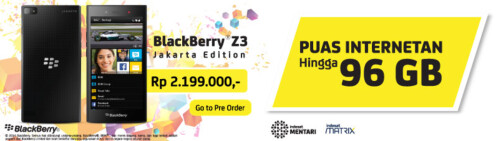 Pre-order the BlackBerry Z3 from Indosat