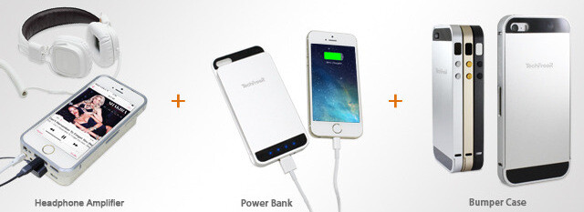 High-quality headphone amplifier for iPhone doubles as a 3600mAh power bank