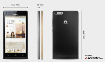 Huawei introduces the mini version of the Ascend P7