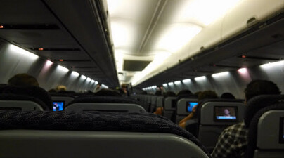 Abadie took this picture on the plane, using her smartphone - UAL forces Google Glass wearing passenger to remove her specs