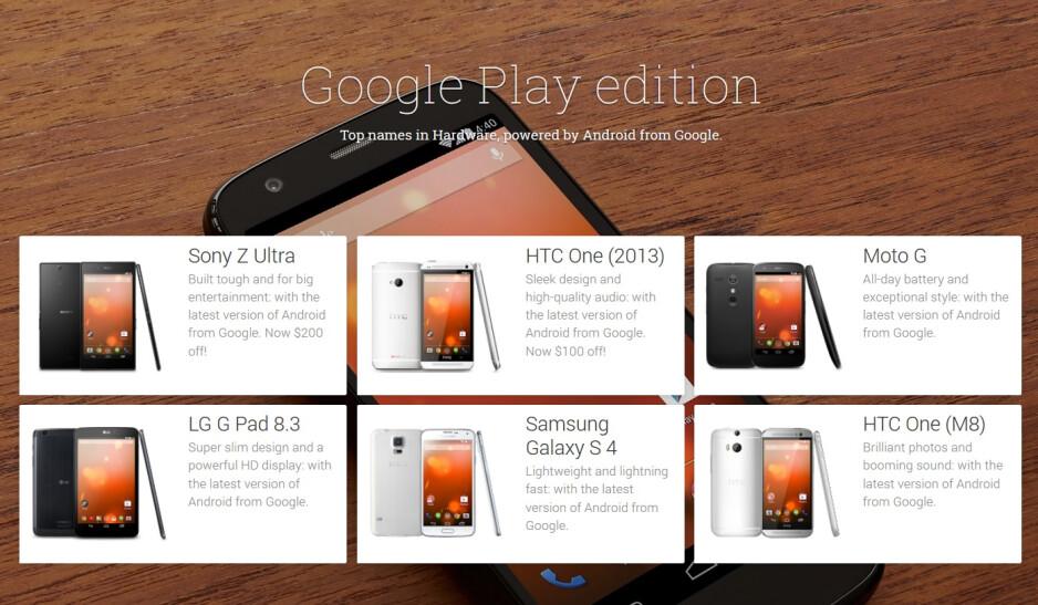 Samsung Galaxy S5 Google Play Edition is teased on Google Play website