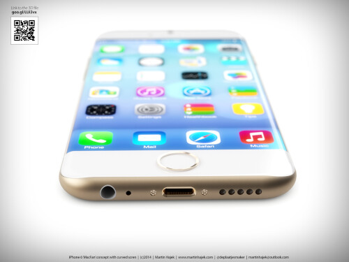 This new iPhone 6 concept proposes a curved display and curved edges, gets compared to iPhone 5s