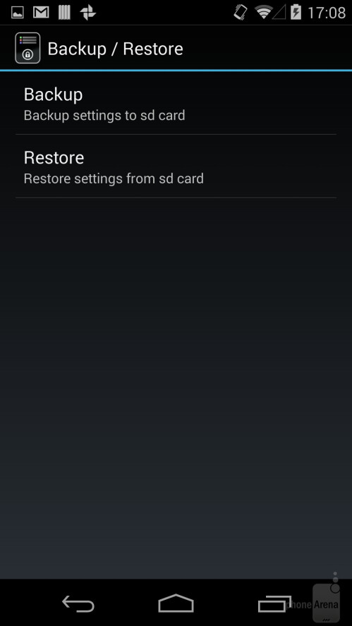 Back up and restore