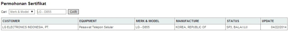 LG D855 (possible G3 variant with a 1080p display) certified in Indonesia