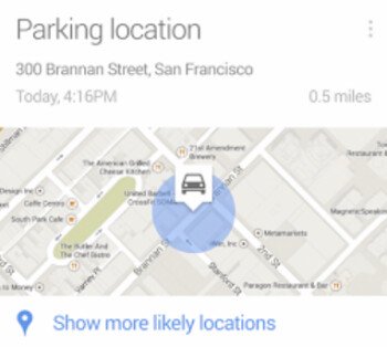 Google Now will help you remember where you parked your car