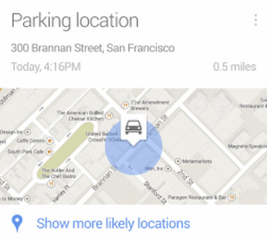 Google Now will help you remember where you parked your car - Forget where you've parked? Google Now to the rescue!