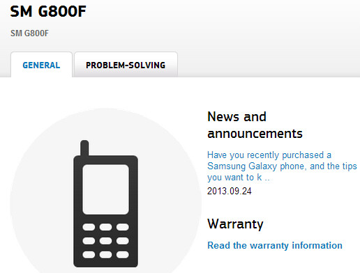 Samsung confirms the existence of what could be a Galaxy S5 mini: the SM-G800F