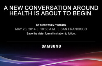 Samsung is holding a health-related event on May 28th