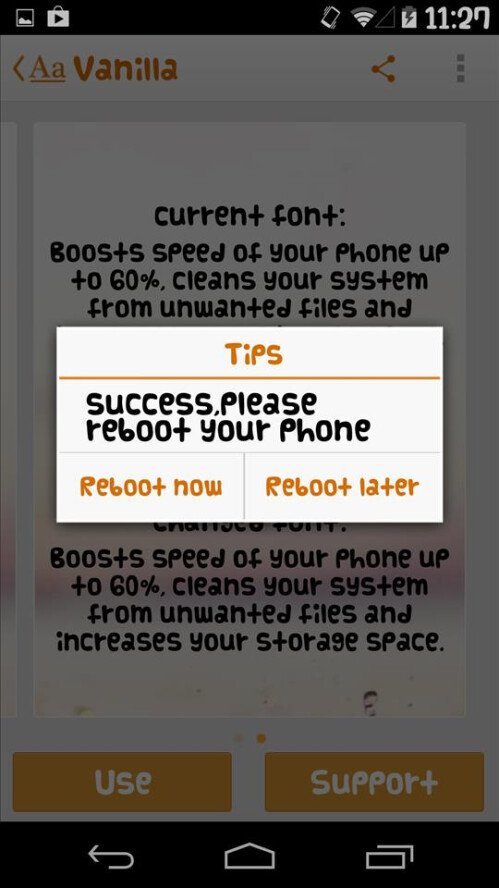 How to change Android's system font