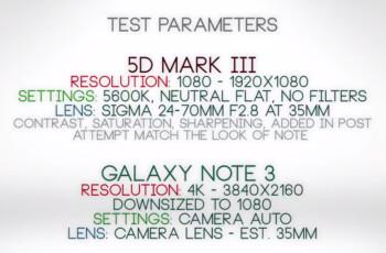 Samsung Galaxy Note 3 vs Canon EOS 5D Mark III: video comparison results will surprise you
