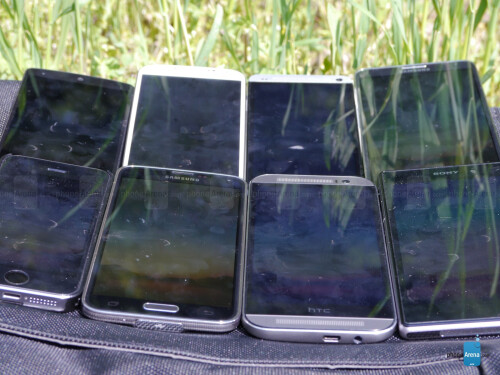 Display outdoor visibility for top smartphones