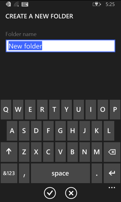 File Manager for Windows Phone