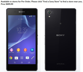 Before landing in the US, Sony Xperia Z2 should be launched in Canada (pre-orders available now)