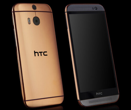 Own a gold or platinum plated HTC One