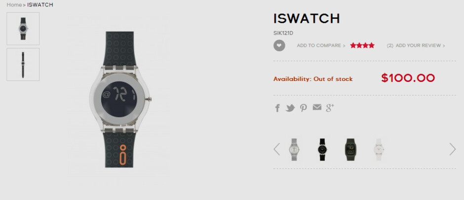 """""""iSwatch"""" maker Swatch moves to block Apple from trademarking """"iWatch"""""""