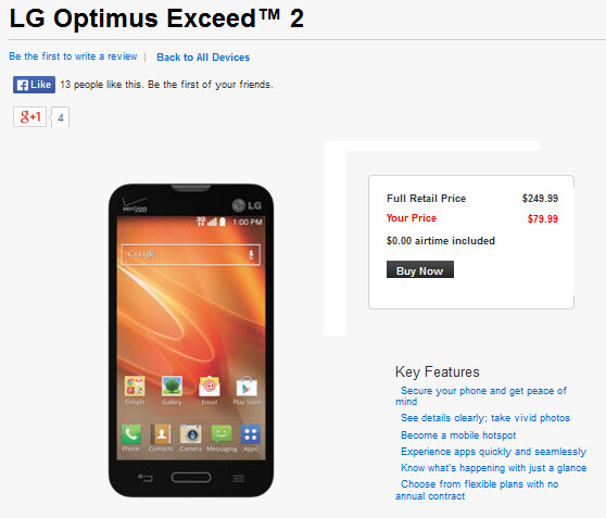 Verizon has re-branded the LG L70 and calls it the LG Exceed 2 - Verizon re-brands the LG L70 as the LG Optimus Exceed 2