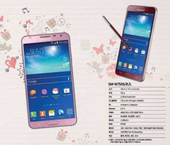 Red and pink Samsung Galaxy Note 3 Neo spotted