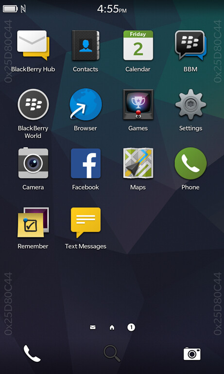 BlackBerry OS 10.3 screenshots