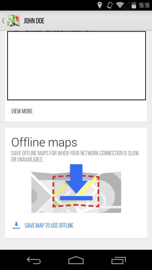 Scroll down and tap on the Offline maps mode