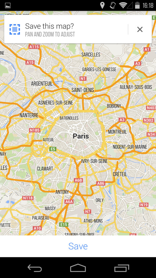 You can now save the whole Paris area map in one swoop