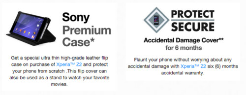Sony is also tossing in a free premium flip case and 6 months of accidental damage insurance