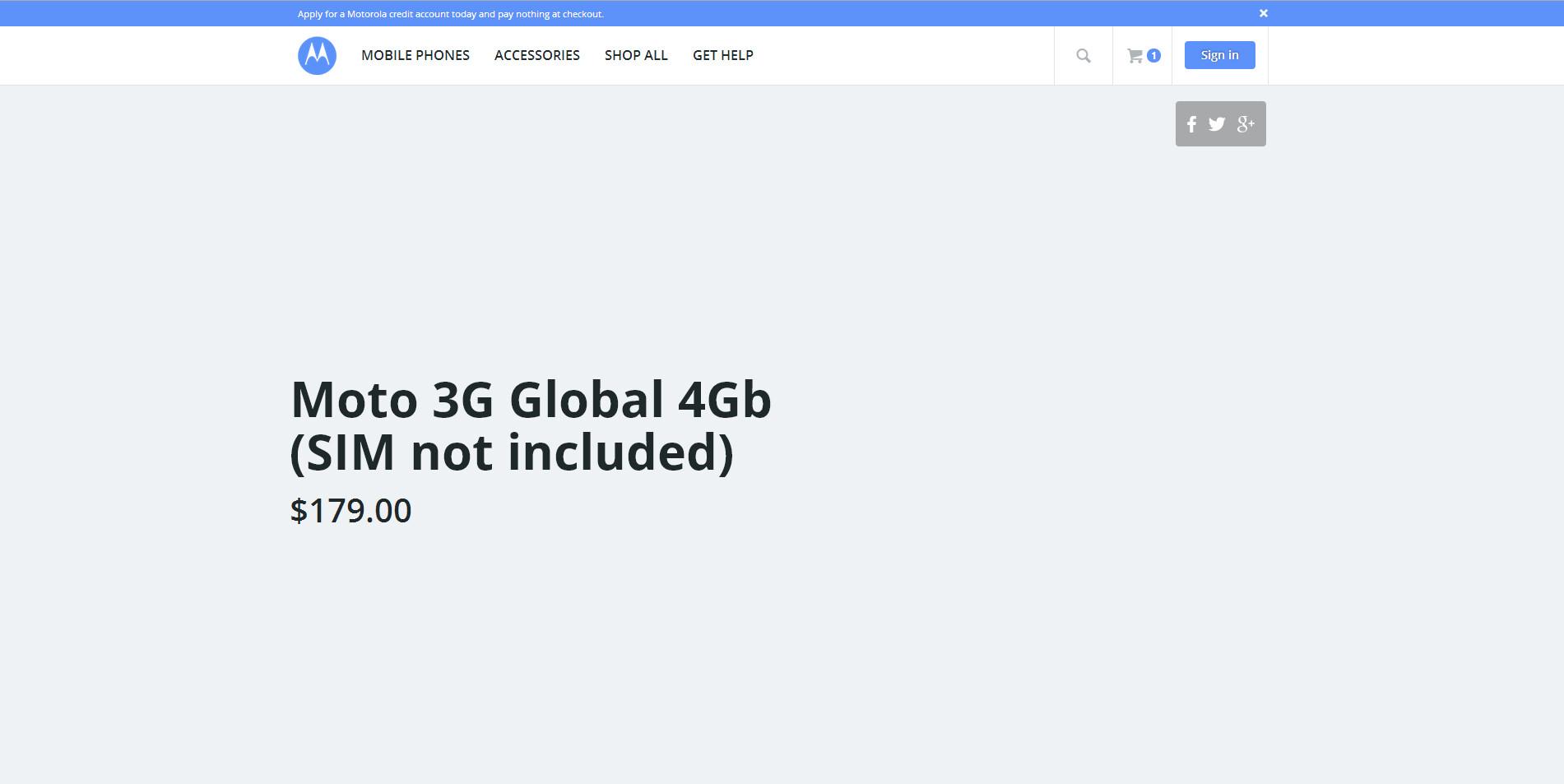 Moto 3G Global 4Gb