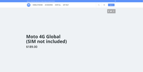 Moto 4G Global, more expensive