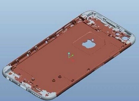 Mold that was used to produce the iPhone 6 dummy models we've recently seen