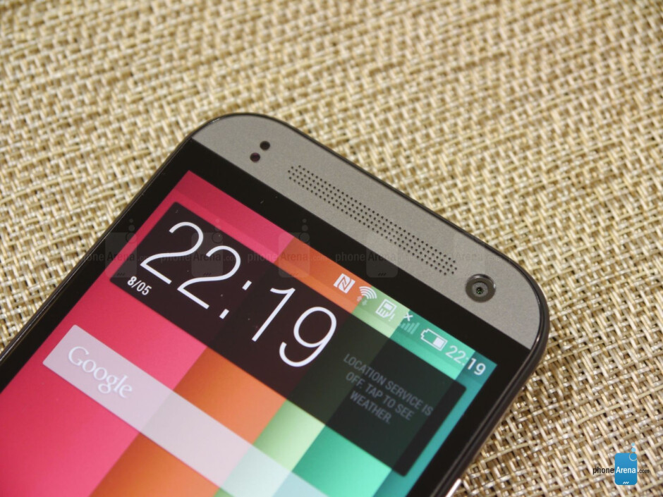 The HTC One mini 2 features a 4.5-inch 720p Super LCD-3 display. - HTC One mini 2 hands-on