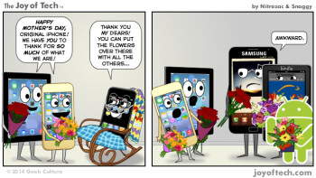 Humor: First generation iPhone, mother of the modern era of smartphones, celebrates Mother's Day