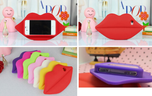 3D Sexy Lips Silicon Protective Case for iPhone 5s / 5
