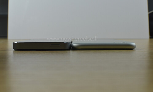 Dummy of Apple iPhone 6 compared with the Apple iPhone 5s