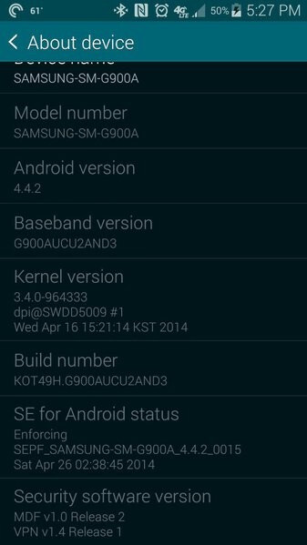 AT&T adds even more bloat to the Samsung Galaxy S5 via an OTA update